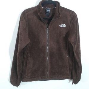 The north face soft fuzzy fleece jacket/sweatshirt